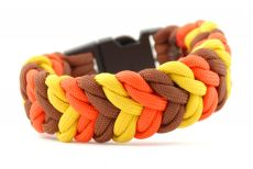 Armband Color Snake Goldgelb Chocolatbraun Neonorange